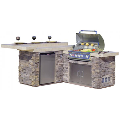 Gourmet Q Outdoor Grill Island By Bull Outdoor Products: Bull 31022 BBQ Jr Gourmet Q Island
